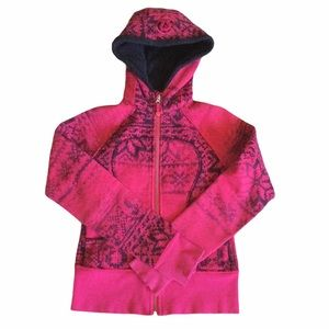 LULULEMON Special Edition Pink Snowflake Scuba Hoodie Size 4